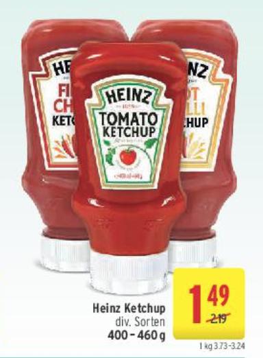 [Merkur/MeinKauf] 460g Heinz Ketchup für 0,49€ (-77% gegenüber Normalpreis)