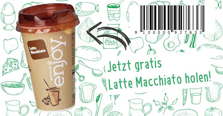 Gratis SPAR enjoy Latte Macchiato in der Steiermark