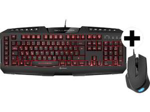 Media Markt: Sharkoon Skiller PRO+ Gaming-Tastatur + Shark Force Gaming-Maus für 37€