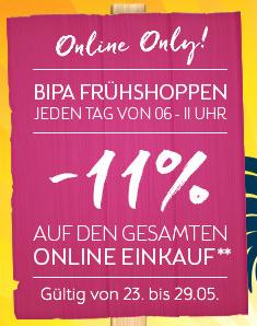 BIPA Online: 11% auf (fast Alles) - täglich von 6 bis 11 Uhr - bis 29.6.2016