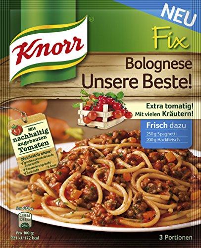 Plus Produkt: Knorr Fix Bolognese (12 x 42g) nur 3,58€