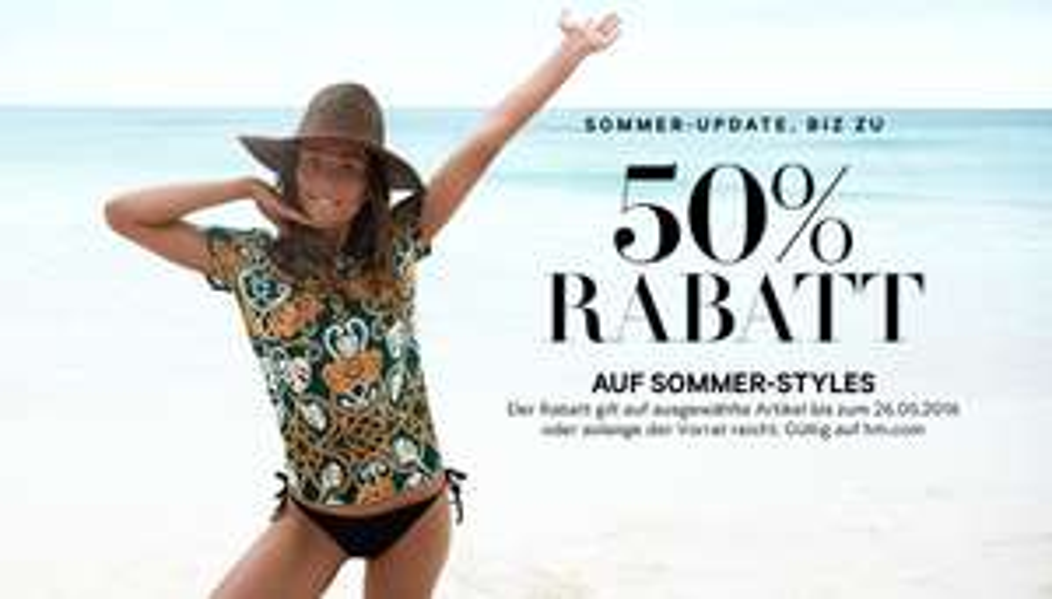 [H&M] bis zu 50% auf ausgewählte Sommer-Styles