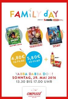 [cineplexx] Family Day am 29. Mai - für 4,80€ ins Kino ( + Almdudler und Skittles GRATIS für Kinder)