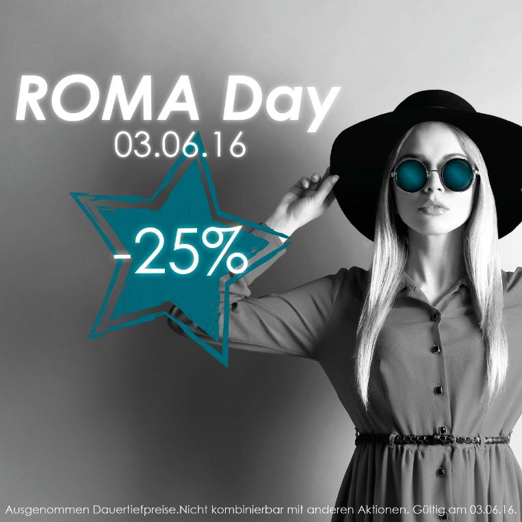 ROMA: 25% Rabatt auf den kompletten Einkauf - nur heute!