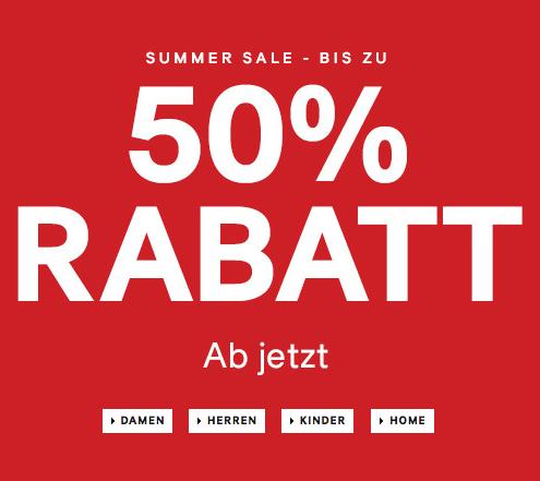 H&M Summer Sale - bis zu 50% Rabatt