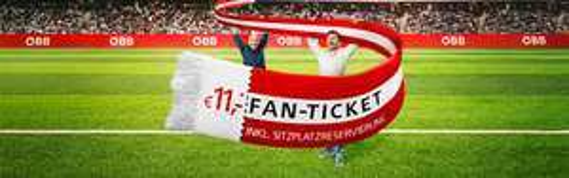 ÖBB Fan-Ticket: Zugfahrt innerhalb von Österreich für 11€ - nur bis zum 10. Juli