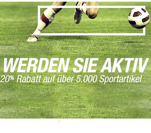 [Amazon] 20% Rabatt auf über 5.000 Sportartikel (ohne MBW)