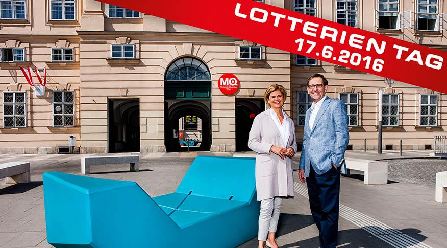 Lotterien Tag im MuseumsQuartier mit kostenlosen Eintritt am 17. Juni