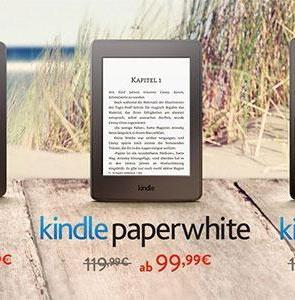 Amazon Lesesommer: Kindle -10€ / Kindle Paperwhite -20€ & auf Kindle Voyage -30€