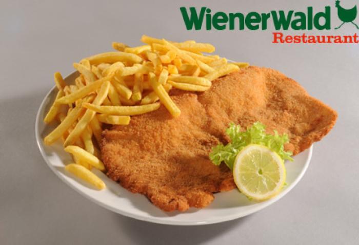 Wienerwald City Gate: Schnitzel + Pommes um 4,40 € - bis 8.8.2016
