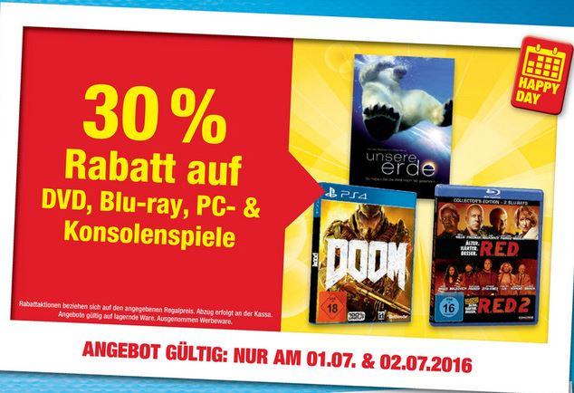 Metro: 30% auf DVD, BD, PC- und Konsolenspiele