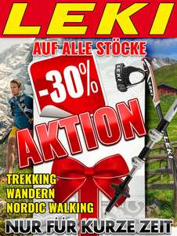 Alle LEKI Stöcke -30% reduziert - Nordic Walking, Trekking, Wandern
