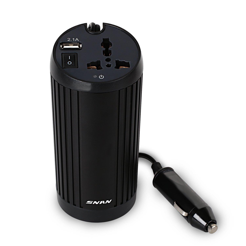 [Amazon Marktplatz-Prime] 150W Wechselrichter KFZ Spannungswandler 12V auf 230V mit USB Ladeanschluss Schwarz für 15,99€ statt 22,99€