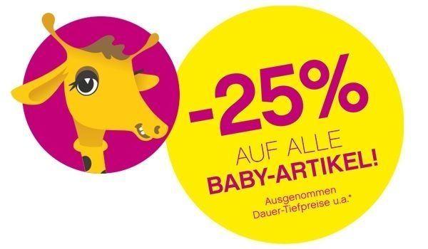"""""""Baby-Days"""": 25% Rabatt auf (fast) alle Baby Artikel - bis 13.7.2016"""