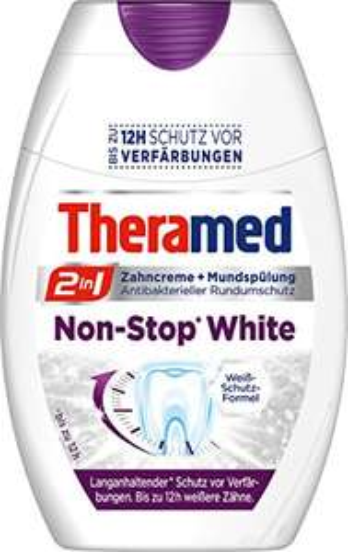 "Amazon: 4x Theramed Zahncreme ""2in1 Non-Stop White"" um 5,13 € - 48% sparen"