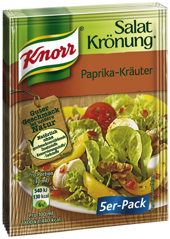 [www.Amazon.de] Plus Produkt bzw Spar-Abo  Knorr Salatkrönung Paprika-Kräuter, 5 x 5 Beutel (5 x 450 ml) € 2.72