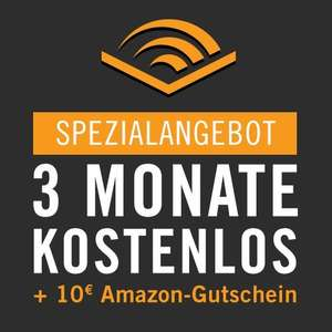 [Amazon.de][PRIME] 3 Monate audible testen und 10€ Amazon Gutschein bekommen