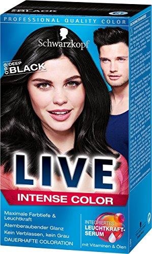 [www.AMAZON.de] Plus-Produkt /  Live Intense 099 Deep Black Color, 3er Pack