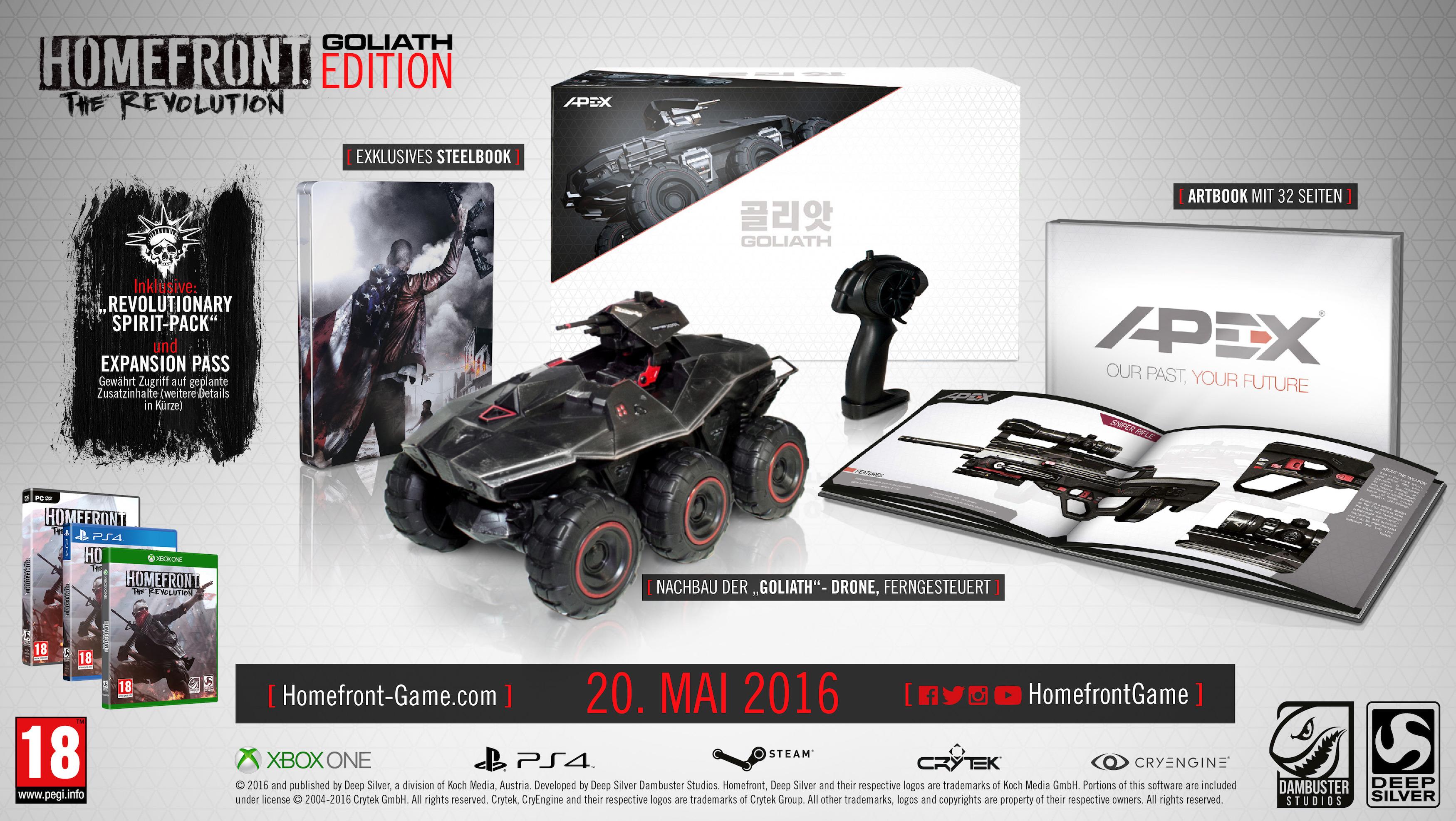 Gameware: Homefront: The Revolution Goliath Edition (PS4 / Xbox One) für 79,99€