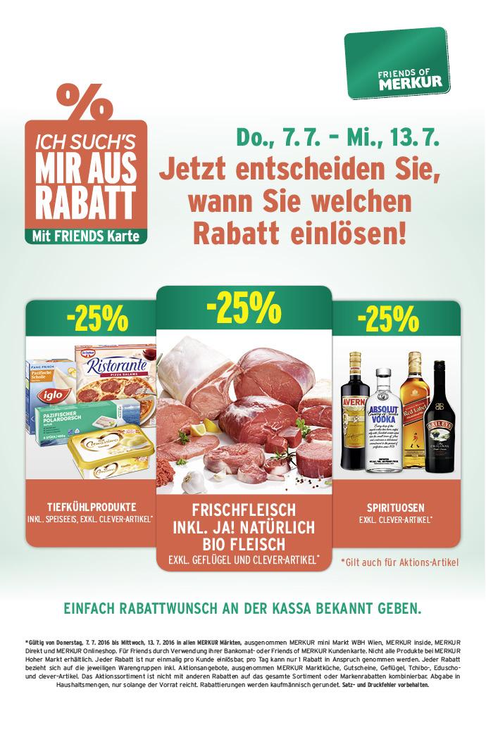 Lebensmittelhandel Angebotsübersicht 7.7.2016 - 13.7.2016