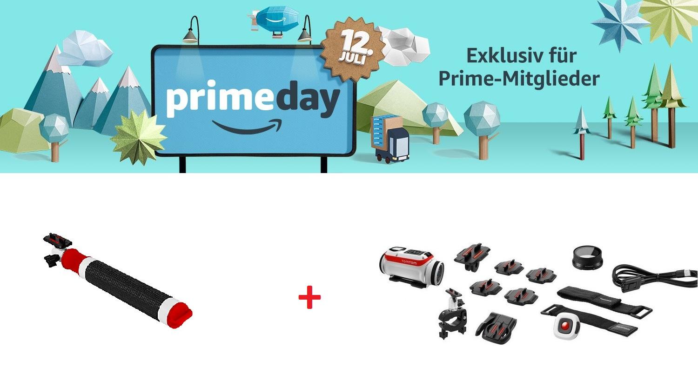 Prime Day Countdown: TomTom Bandit Actionkamera Premium Pack + TomTom Selfie Stick 26,50% sparen