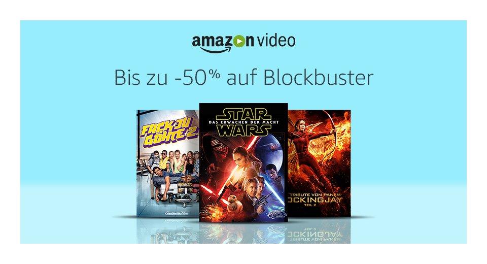 [Amazon.de][Prime Day] Bis zu 50% auf Blockbuster - zB. Star Wars Erwachen der Macht (HD) für 0,99€ leihen