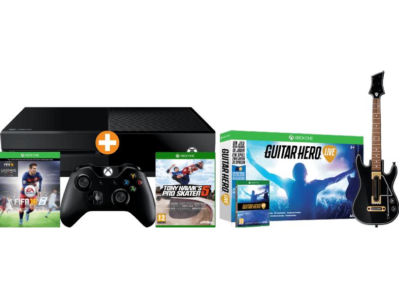 [Saturn] MICROSOFT Xbox One 500GB inkl. FIFA 16 (download Code) + Guitar Hero Live inc.Gitarre + Tony Hawk Pro Skater Pro 5 für 217,-€ Versandkostenfrei