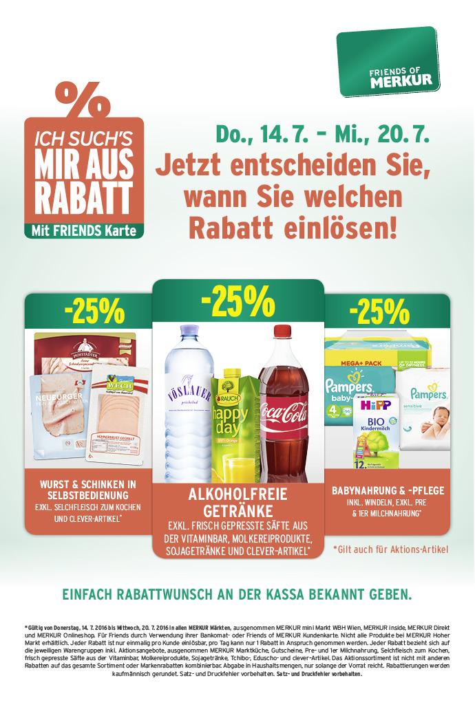 Lebensmittelhandel Angebotsübersicht 14.7.2016 - 20.7.2016