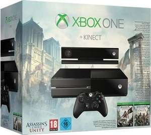 GameStop: Alle Xbox One Konsolen mit 500GB für 249,99€ - u.a. mit: Xbox One + Kinect inkl. Assassins Creed Unity + Black Flag