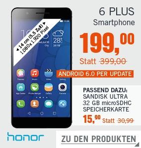 [Cyberdeals] Honor 6 Plus für €199 + €4,99 Versand