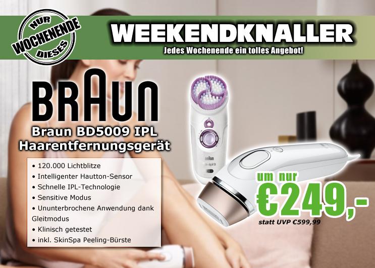 0815.at: Braun Silk-expert IPL BD5009 Haarentfernungsgerät mit Silk-épil SkinSpa Peeling-Gerät für 249€