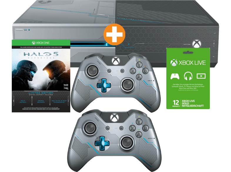 [Saturn.at] Xbox One 1 TB Bundle + 2 Halo Controller + Halo 5: Guardians (DLC) + 12 Monate Xbox Live für 294€