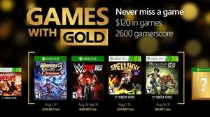 "Games with Gold im August: ""Warriors Orochi 3"" und ""WWE 2K16"" [Xbox One] + ""Spelunky"" und ""Beyond Good & Evil HD"" [Xbox 360 - abwärtskompatibel]"
