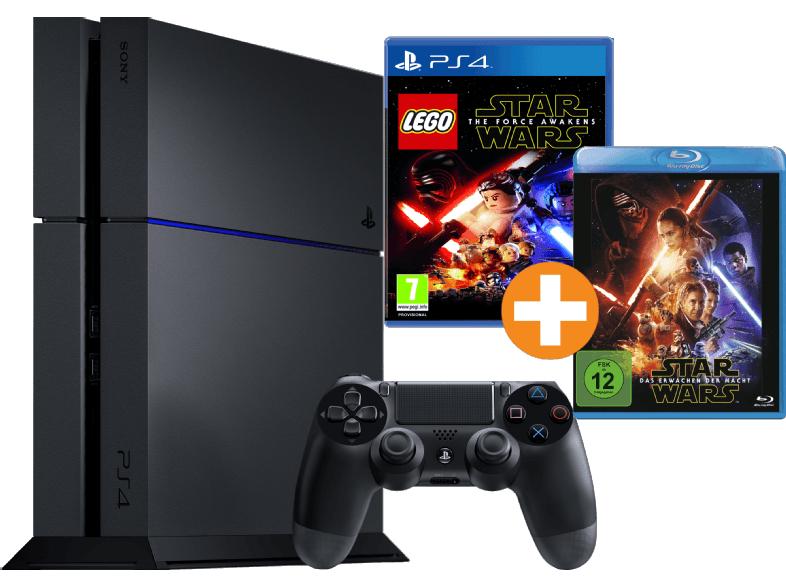 [mediamarkt.at] SONY PlayStation 4 1TB (CUH-1216) + LEGO Star Wars + Das Erwachen der Macht (Blu-Ray) für 282€