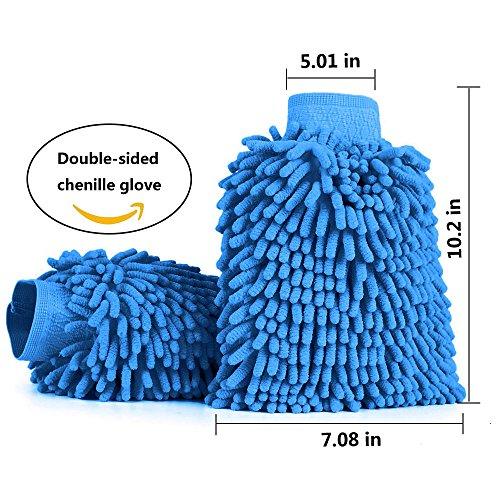 [amazon Prime] 2er-Pack Microfaser Autowaschhandschuhe (blau) für 5,99€