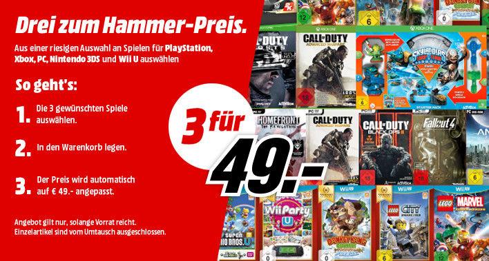 [Info] [Amazon] Aktion - zB: 3 Games für 49€