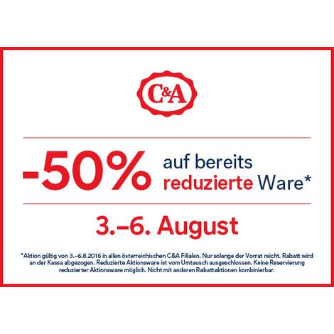 C&A -50% auf bereits reduzierte Ware