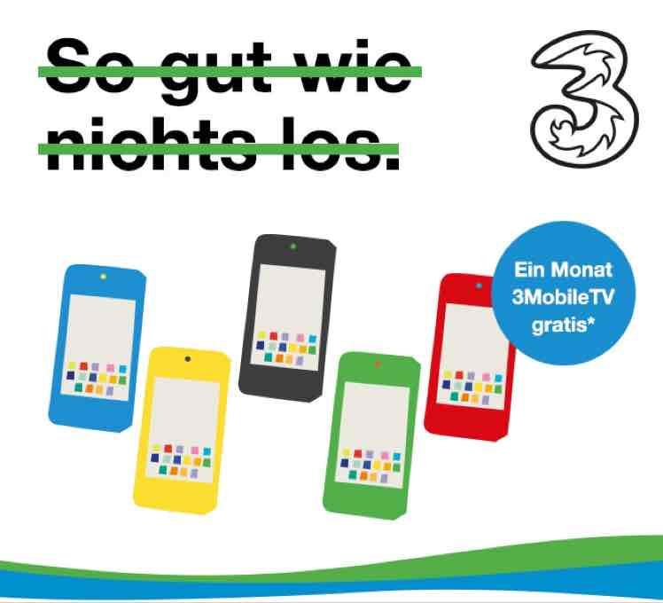3 Mobile TV 1. Monat gratis. Jederzeit Kündbar