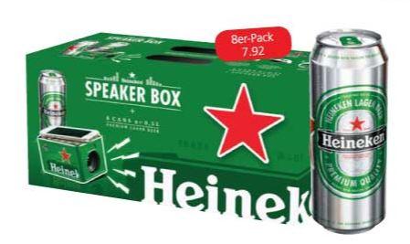 Spar: 8er-Pack Heineken Dosenbier um 7,92 € kaufen und Gratis NFA Mini Speaker erhalten
