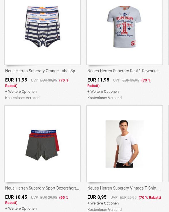 Bis 70€ Rabatt auf 125 Superdry Artikel bei ebay.at