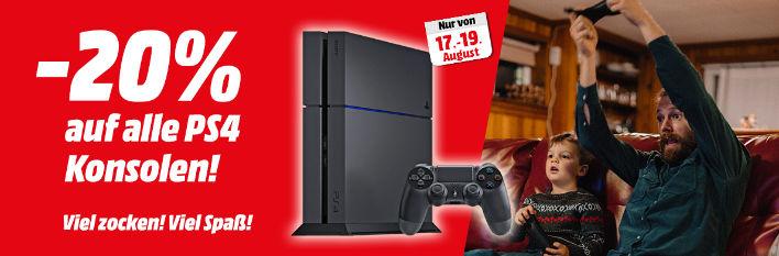 [Info][Mediamarkt] - 20% auf PS4 Konsolen von 17.-19. August