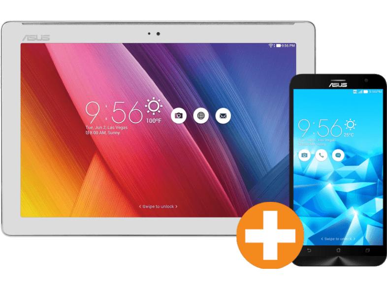 Saturn: ASUS ZenPad 10 Z300C-1L 32GB 10 Zoll Tablet + ASUS ZenFone 2 Deluxe ZE551ML 128GB für 328€