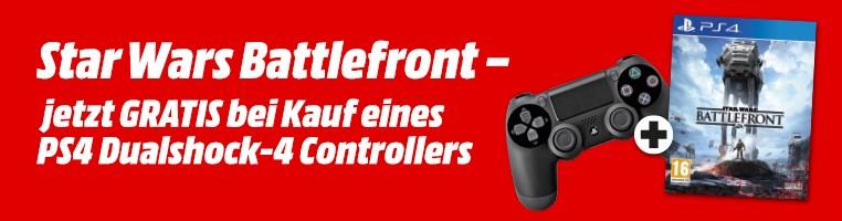 Media Markt: Sony DualShock 4 Controller kaufen und Star Wars Battlefront geschenkt bekommen