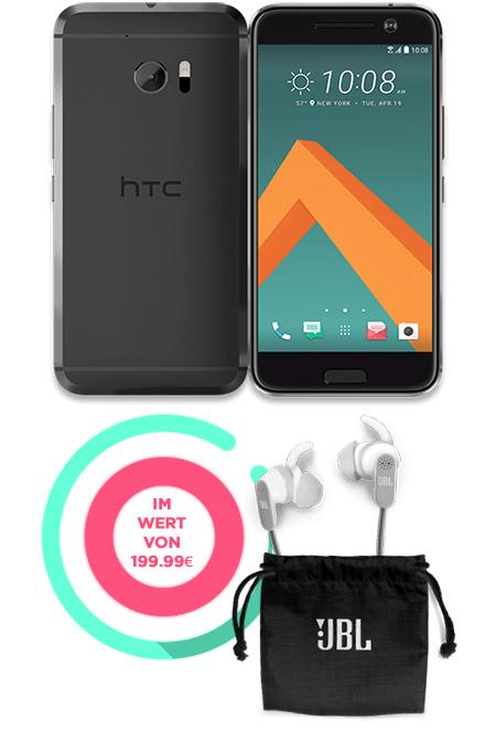 HTC 10 um 699€ + JBL Kopfhörer im Wert von 199€ gratis dazu