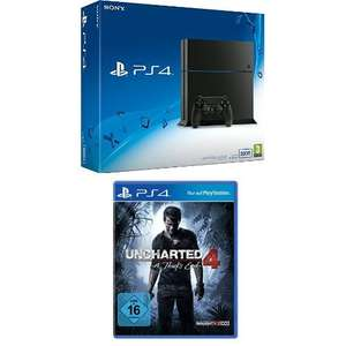 Amazon: Sony PlayStation 4 - 500GB + Uncharted 4: A Thief's End für 269,97€