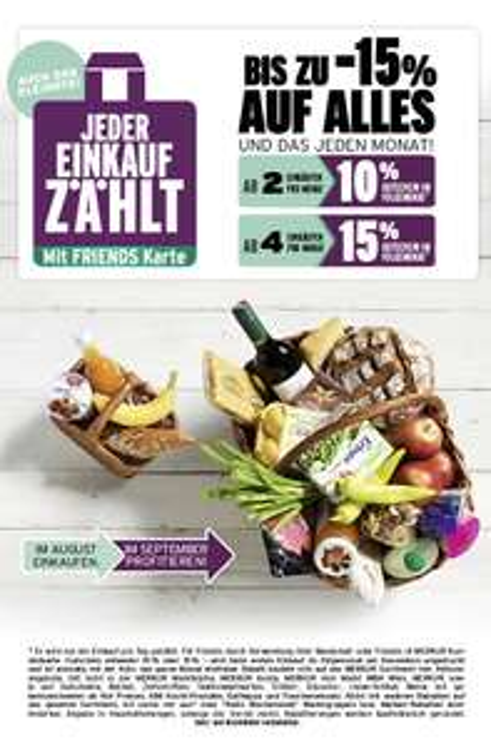 Lebensmittelhandel Angebotsübersicht 25.8.2016 - 31.8.2016
