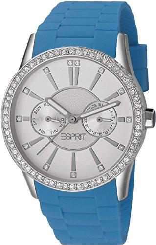 Esprit Damen-Armbanduhr Leder in blau
