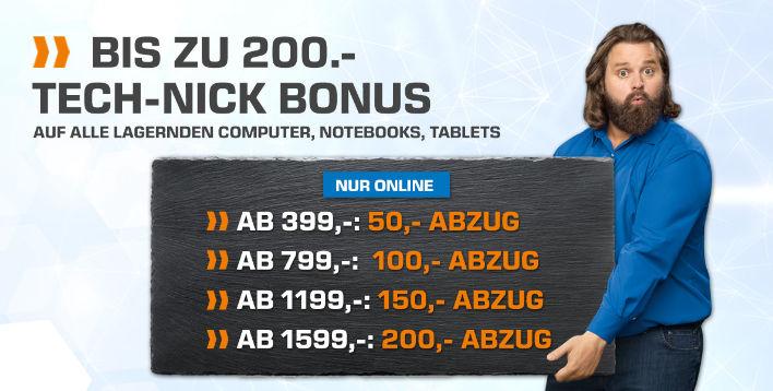 SATURN, Von 50 bis 200€ Gutschrift für Notebook/Tablet/PC