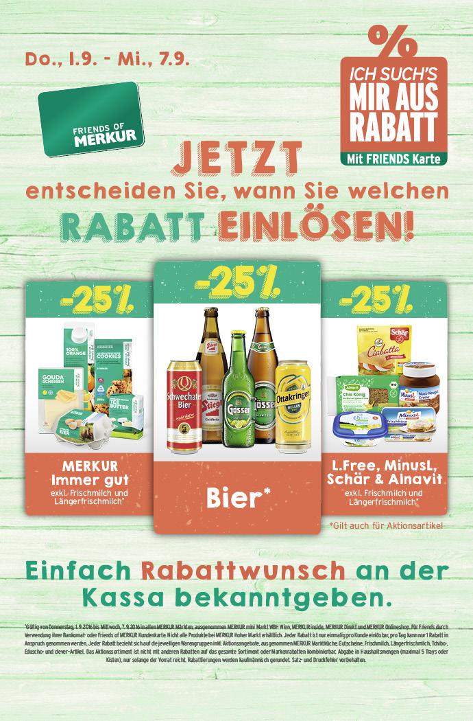 Lebensmittelhandel Angebotsübersicht 1.9.2016 - 7.9.2016