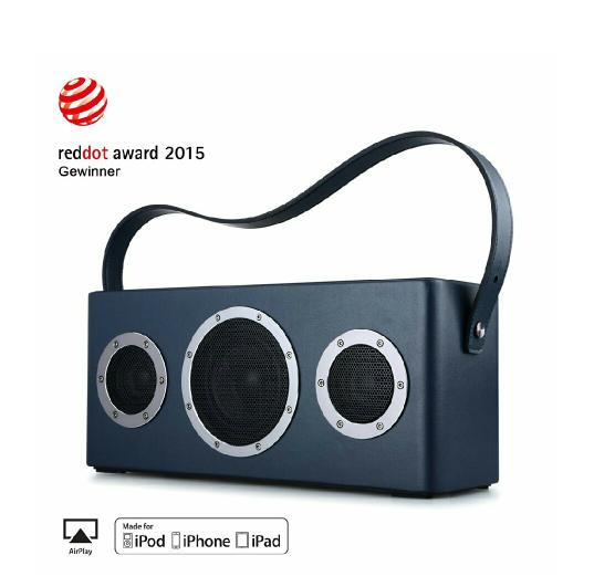 GGMM M4 Multiroom-Lautsprecher AirPlay-Lautsprecher Portable WIFI/ Bluetooth Lautsprecher Outdoor Wireless Speaker mit Lederhandgriff (Blau)